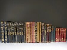 Various Vintage Softcover Leatherbound Books - 29 Books Collection! (ID:36319)