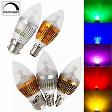 Dimmable 6/8/10W Light LED Chandelier Candle Bulb E12 E14 E27 B15 B22 White Lamp
