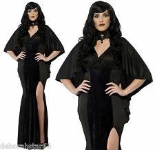 Women's Curves Vamp Sexy Gothic Vampire Halloween Fancy Dress Costume 16 to 30
