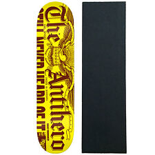 "ANTI HERO Skateboard Deck DAILY BUMMER SM YELLOW 7.75"" with GRIPTAPE"