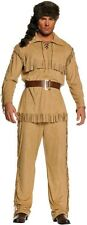FRONTIER MAN DAVEY DAVY CROCKETT PIONEER ADULT COSTUMES INDIAN DANIEL BOONE