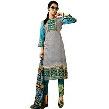 Designer Ethnic Printed Cotton Salwar Kameez Suit Indian Dress-KK-Needhi-405