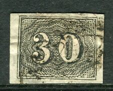 BRAZIL;  1850 early classic Imperf issue fine used 30r. value
