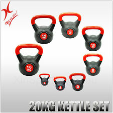 20KG KETTLEBELL WEIGHT SET - HOME GYM TRAINING KETTLE BELL EXERCISE - XIN