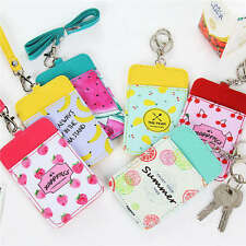 1 Pcs Fruit Card,Bus Pass,Student ID Card,Access Card Holder Lanyard Strap