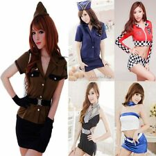 Women Sexy Lingerie Dress Police Costume Cosplay Uniform Sleepwear Nightwear Set
