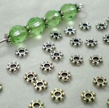 200pcs/Lots HOT Tibetan Daisy Spacer Metal Beads 4mm Jewelry Making Wholesale