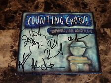 Counting Crows Rare Full Band Signed CD Adam Duritz Somewhere Under Wonderland