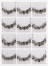 5pcs CRYSTAL Retro silver SPACER BEADS FIT European Beads Charm Bracelet 26Color