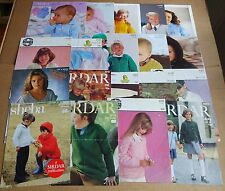 MULTI-LIST SELECTION OF VINTAGE SIRDAR  BABY / BOYS / GIRLS  KNITTING PATTERNS