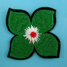 Green Leaf Flower Iron on Sew Collar Patch Cute Applique Badge Embroidered Bust