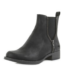 Womens Rocket Dog Camilla Black Chelsea Ankle Boots Size