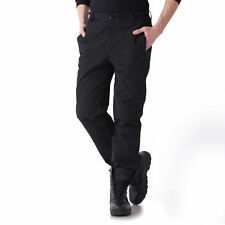 Mens SoftShell 2in1 Fleece Lined Pants Outdoor Camping Hiking Military Trousers