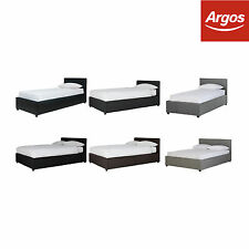 Hygena Lavendon Ottoman Leather Effect Bed Frame - Choice of Size and Colour.