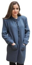 Women's Soft Alpaca Wool Four-Button Knitted Cardigan Long Coat Sweater