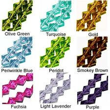 WHOLESALE GLASS BEADS FACETED BICONE 9 COLORS PURPLE BLUE GREEN FUCHSIA 6MM 4MM