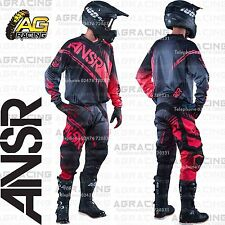 Answer 2017 Syncron Black Grey Red Jersey Pants Gloves Combo Motocross Enduro