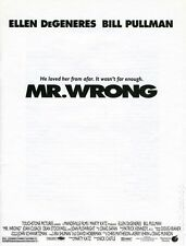 Mr. Wrong Promotional Media Book (1996) #KIT-01 NM