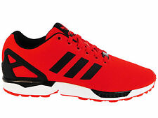 NEW MENS ADIDAS ORIGINALS ZX FLUX RUNNING SHOES TRAINERS RED / BLACK / WHITE