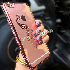 Bling Clear Crystal Diamond Soft TPU Phone Case Cover For Apple iPhone 7 6s Plus
