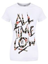 All Time Low Floral Women's White ATL T-shirt