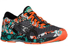 NEW MENS ASICS GEL-NOOSA TRI 11 RUNNING SHOES TRAINERS CARBON / SILVER / HOT ORA
