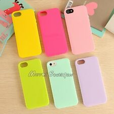 Cute Rubber Bumper Silicone Gel Candy Case Slim Cover for iPhone Apple 5 5S SE