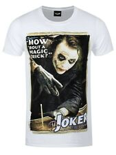 Batman Men's The Dark Knight Magic Trick Joker T-shirt White
