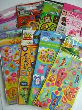 CHARACTER FUN STICKERS (Party Loot Bags) - 6 Sheets/Pack {fixed UK p&p}