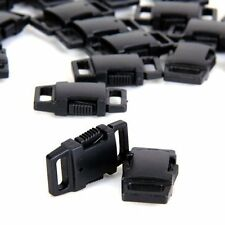 Black Plastic Side Release Buckles for webbing Quick Release Buckles Pack 25/50