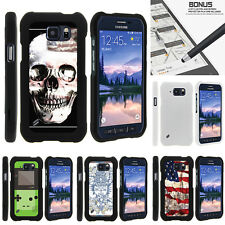For Samsung Galaxy S6 Active G890 Case Hard Snap On 2 Piece Slim Shell USA Skull