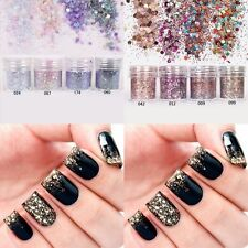 10ml Arcylic Glitter Dust Powder Set for Nail Art Tip Decoration Rhinestone