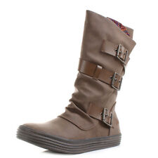 Womens Blowfish Fader Wide Calf Fit Flat Coffee Whiskey Boots Size