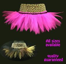 GIRLS LEOPARD TUTUS DANCE GOTH/ CAVE GIRL JUNGLE THEME