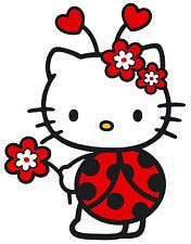 "6.5-10"" HELLO KITTY LADYBUG CHARACTER WALL SAFE STICKER BORDER CUT OUT"