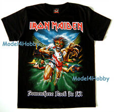 IRON MAIDEN T-Shirt Black S M L XL Somewhere Back In LA HEAVY METAL RUGBY BOARD