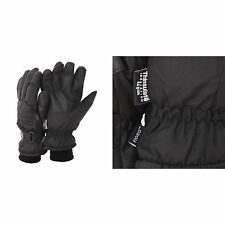 FLOSO Mens Thinsulate Padded Thermal Winter Ski Gloves with palm grip (3M 40g)