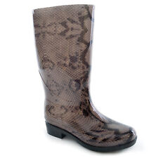 Womens/Ladies Snake Skin Effect PVC Wellington Boots
