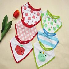 Set of 3 Pcs Cute Baby Bandana Bibs Triangle Head Scarf Saliva Towel Dribble