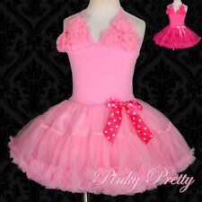 Girl Petti Dress Pettidress Dress Pettiskirt Tutu Dance Birthday Size 2-10y #105