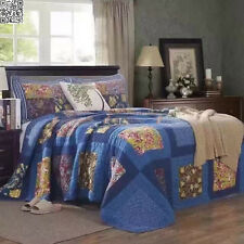 Cotton Quilted Bedspread 1pc Set Double Queen Coverlet  Set New Hanmade AC414