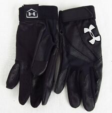 Under Armour Men's UA Clean Up IV Batting Gloves Black Heat Gear L or XL