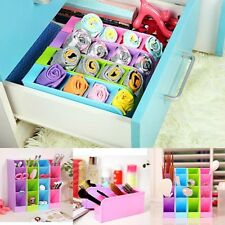 Plastic Organizer Storage Box For Tie Bra Socks Pencil Drawer Cosmetic Kitchen