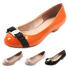 Elegant Wedding Bow Casual Ballerinas Pumps Work Flats AU sz 4 5 6 7 8 9 10