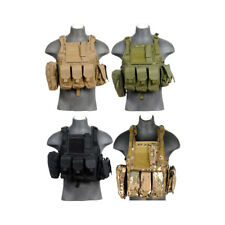 Lancer Tactical CA-305 Modular Chest Rig MOLLE Vest with Triple Magazine Pouches
