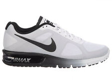 NEW MENS NIKE AIR MAX SEQUENT RUNNING SHOES TRAINERS WHITE / METALLIC SILVER