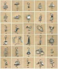 STERLING SILVER CHARMS- Large Variety to choose from (A)