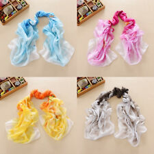 Lady Soft Chiffon Solid Wrap Shawl Scarves Pretty long Stole Scarf Fashion NEW H