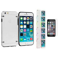For iPhone 6 (4.7) Hybrid Clear Hard TPU Case+Anti Glare Screen Protector