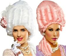 Marie Antoinette Victorian Versailles French Revolution Colonial Pink White Wig